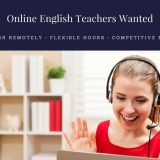 Online Native English Teachers Wanted